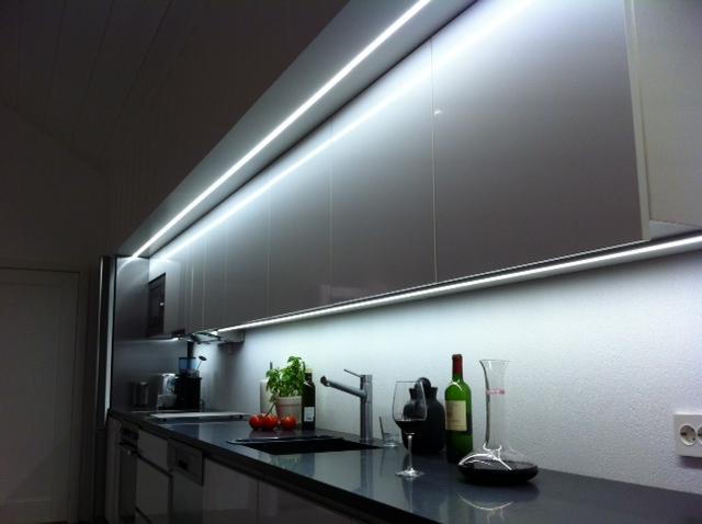 Eksempel på kjøkkenbelysning