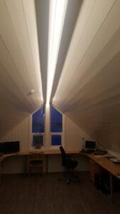 Hjemmekontor på loftet