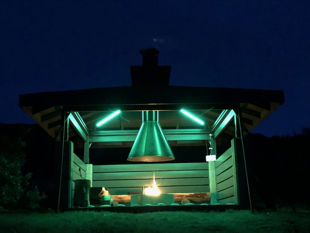 Belysning til grillhytte